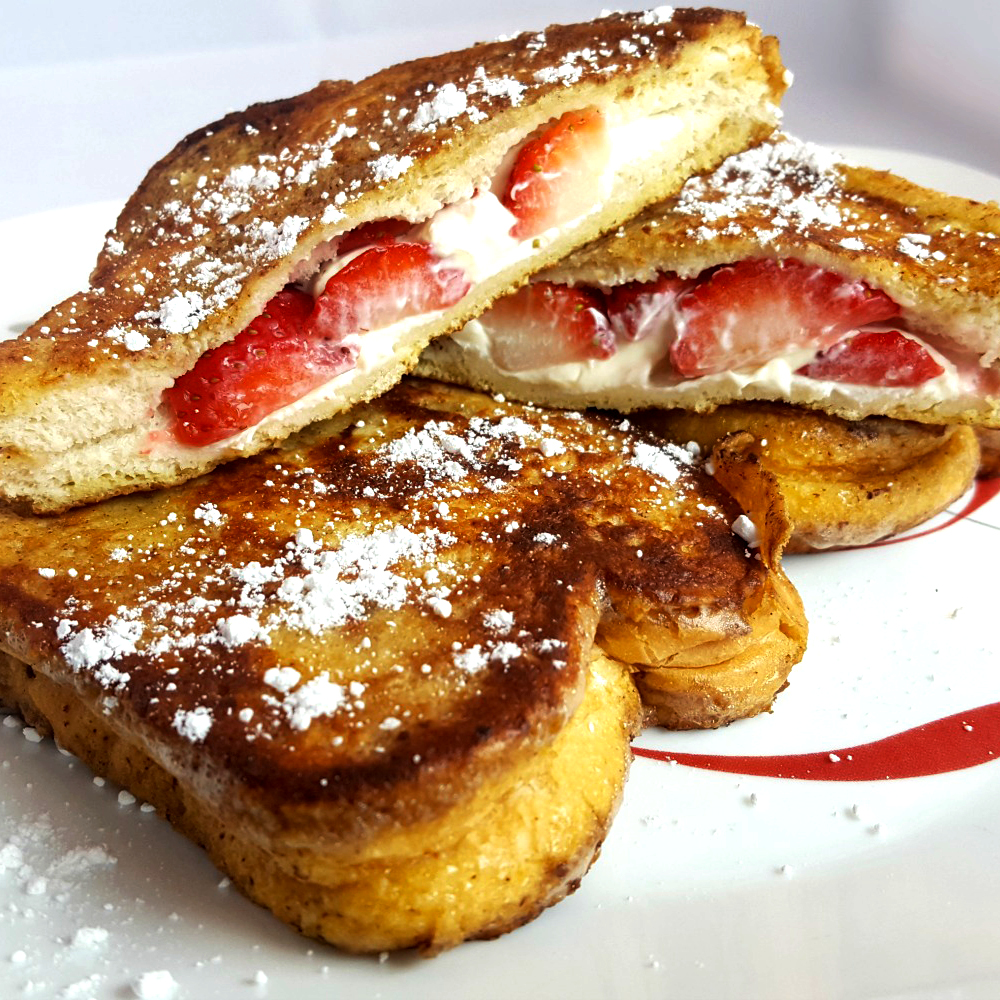 Canada Day Brunch- Celebrate Canada 150 with Strawberry Cream Cheese Stuffed French Toast